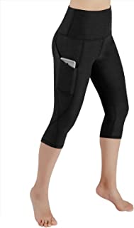 ODODOS High Waist Out Pocket Yoga Capris Tummy Control Workout Running 4 Way Stretch Yoga Pants,Leggings