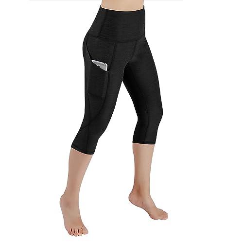 e6757bfbf ODODOS High Waist Out Pocket Yoga Pants Tummy Control Workout Running 4 Way  Stretch Yoga Leggings