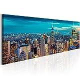 murando Cuadro en Lienzo Nueva York City NY 135x45 cm 1 Parte Impresión en Material Tejido no Tejido Impresión Artística Imagen Gráfica Decoracion de Pared New York NY Ciudad City d-B-0068-b-b