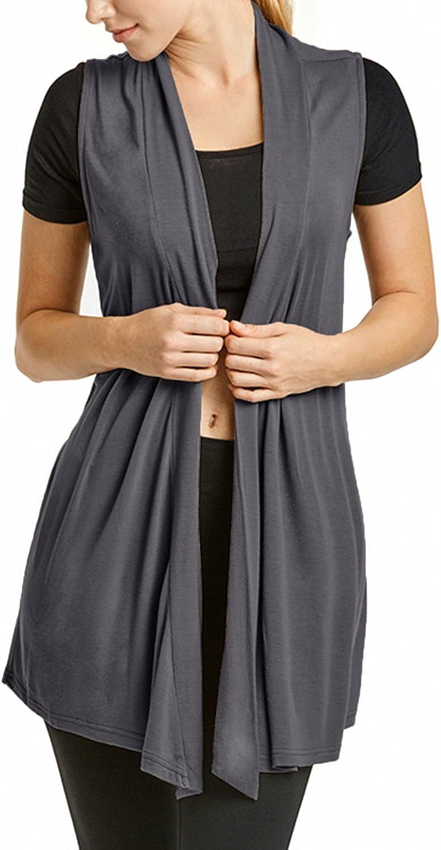 CircleSquare Fashion Womens Soft Lightweight Draped Open Front Cardigan