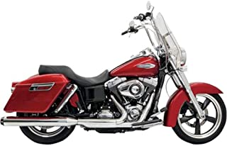 Bassani Xhaust 12-16 Harley FLD Quick Change Series Slip-On Exhaust (Chrome with Black Billet End Cap with Contrasting Flutes)