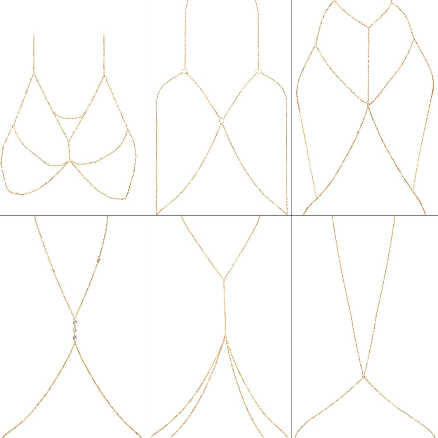 Sexy Gold Max 62% OFF Body Chains Spasm price Charm Necklace Chain Belly Layered Bikini