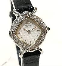 (セイコー)SEIKO 1E70-5B10 レディース腕時計 ダイヤベゼル クレドール 腕時計 K18WG / 革ベルト レディース 中古