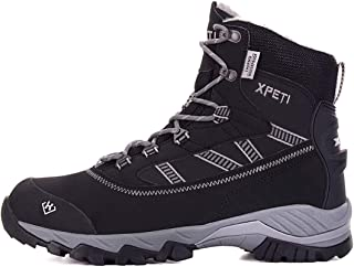 XPETI Men's Oslo Snow Winter Mid-Rise Waterproof Hiking Boots