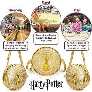 61gbqt+YXDL. SS300  - Harry Potter Bolso Bandolera, Mochila de Lentejuelas Motivo Giratiempo de Hermione Granger, Bolsos Bandolera para Niñas…