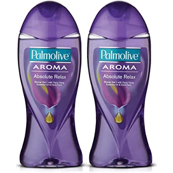 Palmolive Body Wash Aroma Absolute Relax, 250ml (Pack of 2), Shower Gel with 100% Natural Ylang Ylang Essential Oil & Iris Extracts