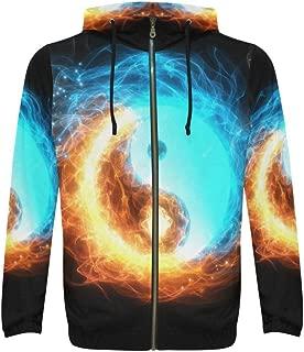 Custom Unique Design Men's Full-Zip Zipper Hoodies Sweatshirt