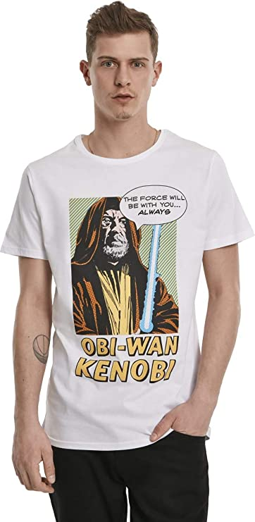 Star Wars Herren T-Shirt The Force Tee mit Comic-Print von Obi-Wan Kenobi