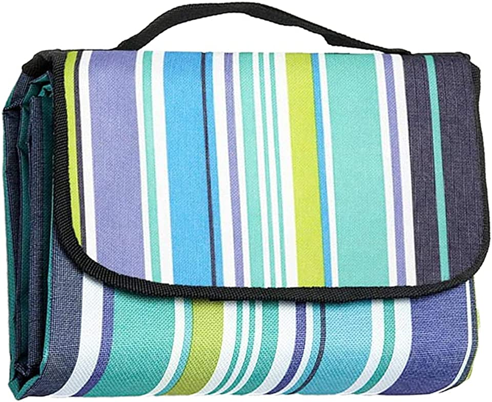 Lucky Bamboo Picnic Blanket Waterproof, Heat Insulated Beach Blanket Camping Blanket, with Carrying Handle 200 * 150CM
