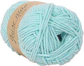Clearance Sale ! Milk Cotton Wool,Vanvler 1PC 50g Chunky Colorful Hand Knitting Baby Crochet Knitwear Yarn (H2)