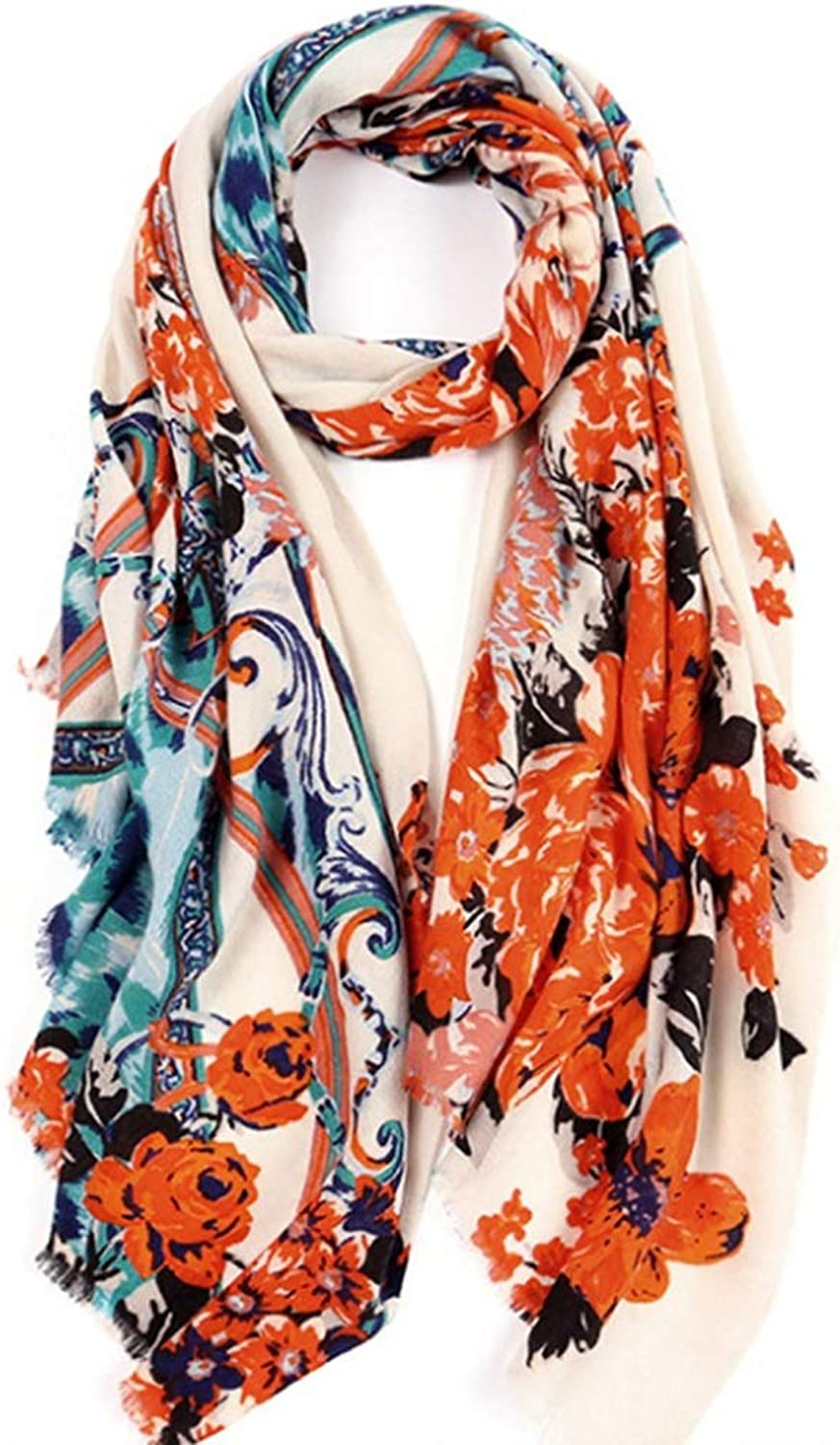 Autumn and Winter New Scarf Long Section Ladies Wild Warm Shawl (color   D)