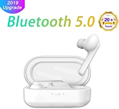 [2019 New Upgrade] Bluetooth Headphones 5.0 Wireless Earbuds Waterproof Noise Canceling Headsets Built-in Microphone Stereo Earphones with Charging Case【Total 30H Playtime】 for Android iOS and Others