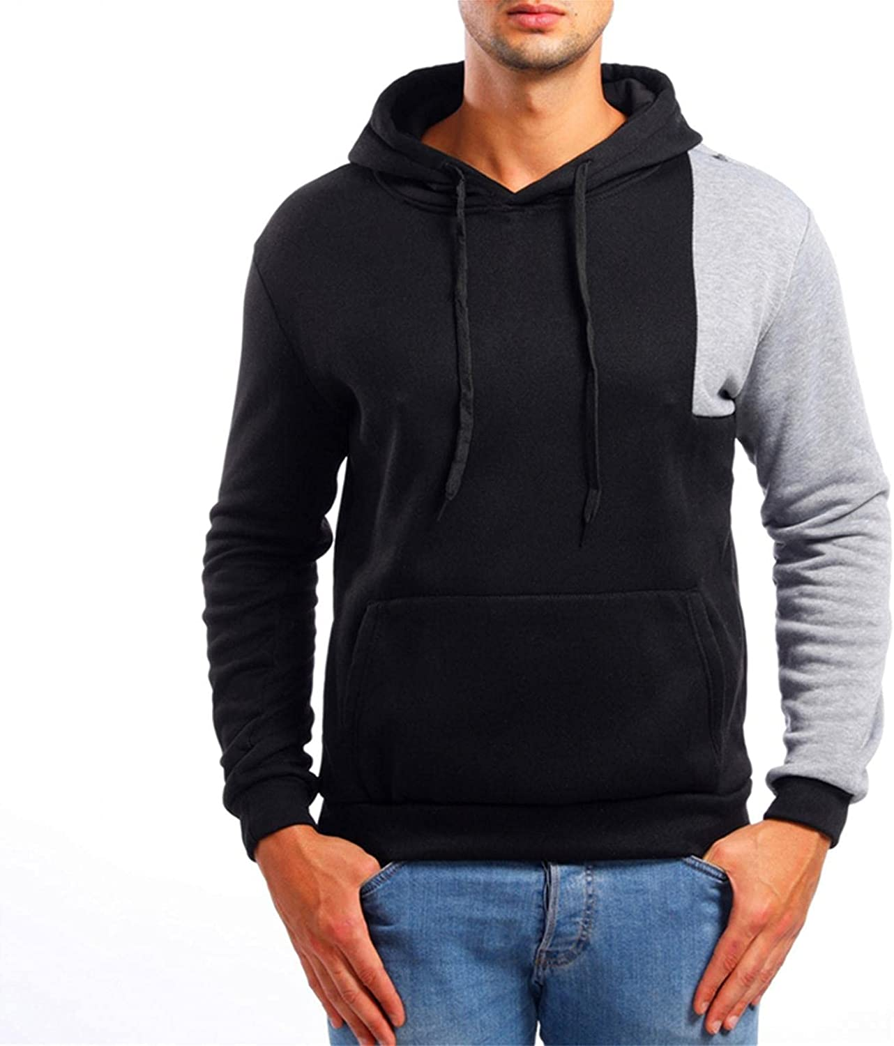 Men's Hooded Sweatshirts Lightweight Fashion Slim Fit Casual Pullover Hoodie Shirts Long Sleeve Sport Tops