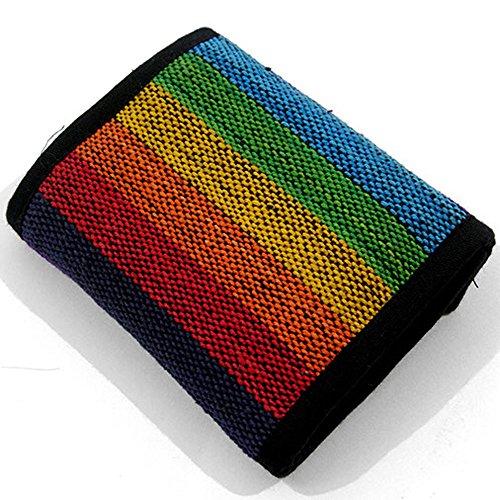 Rainbow Festival Hippy Cartera | Boho Monedero | Hippy Rainbow Monedero