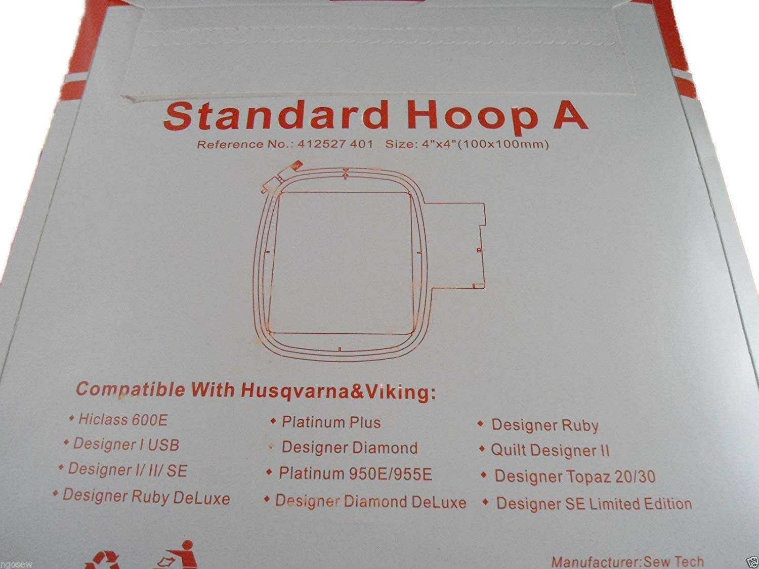 """Viking Husqvarna Hoop 5 x 7/"""" # 920085-096 the Most Requested Size 130 x 180 mm"""