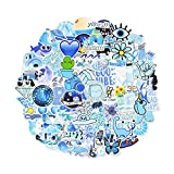 Waterproof Stickers Cute Stickers for Teens Girls, 100Pcs Blue Vsco Stickers for Phone case,Water Bottles,Laptop,Scrapbook(Blue Lovely Stickers)