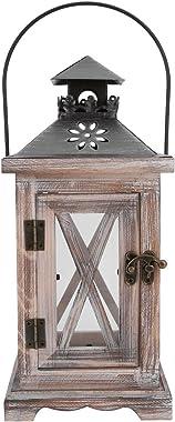 Chandelier Vintage avec des lanternes de Bougie décorative rétro en Bois pour la Maison ou Le Bureau de Mariage Ornement déco