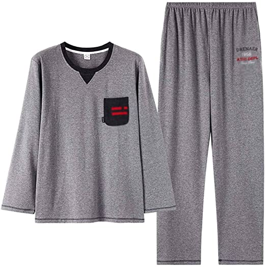 Pijama de algodón para Hombre Set Hombres con Estilo y Simple ...