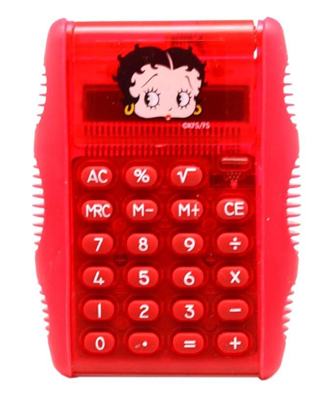 上回る乗り出す砂Betty Boop デュアルトーン 赤色 シンプル 電卓