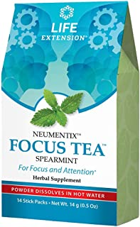 Life Extension Focus Tea 14 Stick Packs, 14 Gram