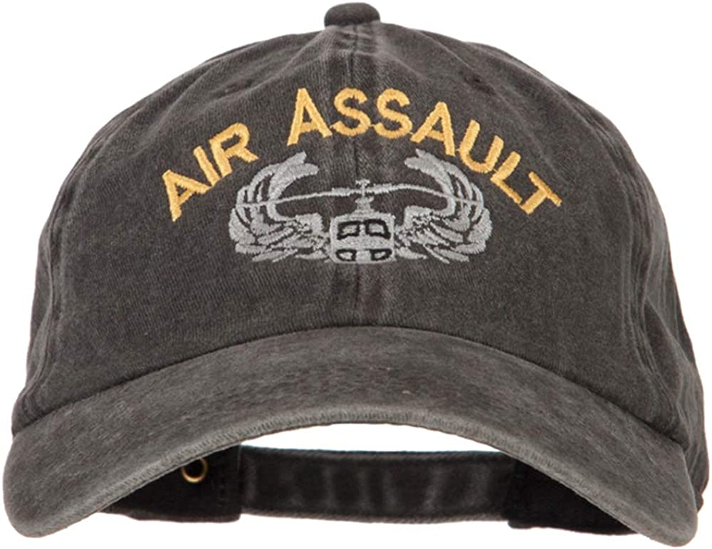 e4Hats.com Air Assault Now free shipping Embroidered Twill Max 81% OFF Cap Washed Cotton