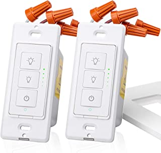 meross Smart Dimmer Switch, 2 Packs Light Switches for Dimmable LED Light, Halogen and Incandescent Bulb, Work with Alexa, Google Assistant and IFTTT, Single-Pole Switch with Voice Control and Timer