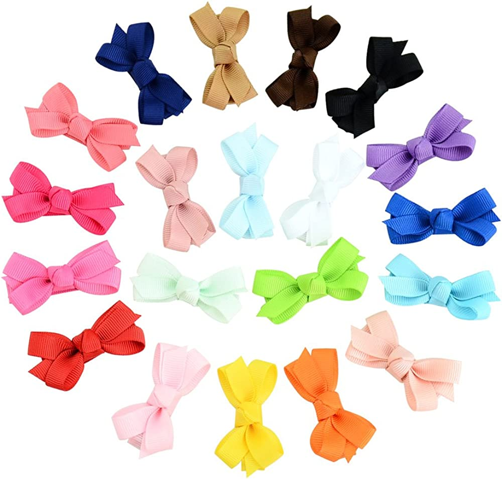 20PCS Newborn Ranking TOP6 Baby Girl Snap Hair Super beauty product restock quality top Clips Barret Bow Tiny Knot