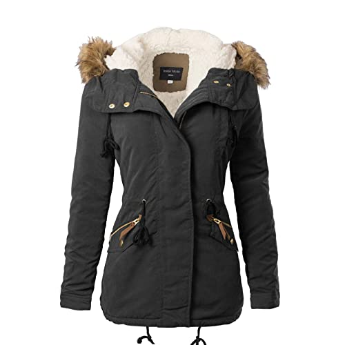 Instar Mode Women s Junior Fit Casual Military Anorak Safari Hoodie Jacket 83d99b64446