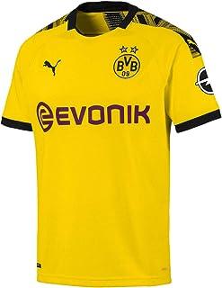 PUMA Mens T-Shirt 75573701, Cyber Yellowpuma Black, Small