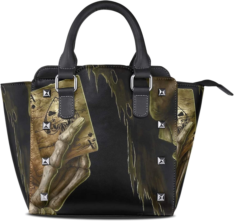 Women's Handbags Skull Hold Cards Tote