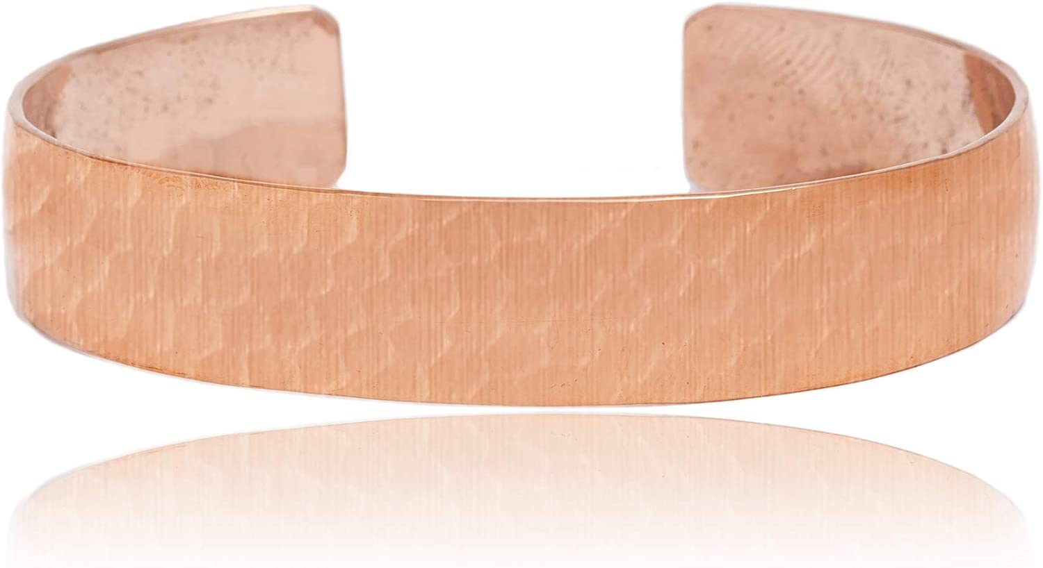 $100Tag Copper Certified Navajo Native American Hammered Cuff Bracelet 12875 Made by Loma Siiva