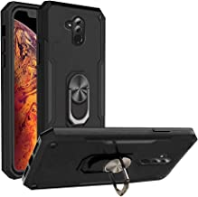 Phone Case for Huawei Mate 20 Lite with Tempered Glass Screen Protector Cover and Magnetic Ring Holder Stand Kickstand Cel...