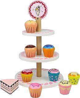 yoptote Cocina Madera Cocinitas de Juguetes Alimento de Juguete Cupcakes Utensilios Comidas de Juguete Juegos del rol Rega...