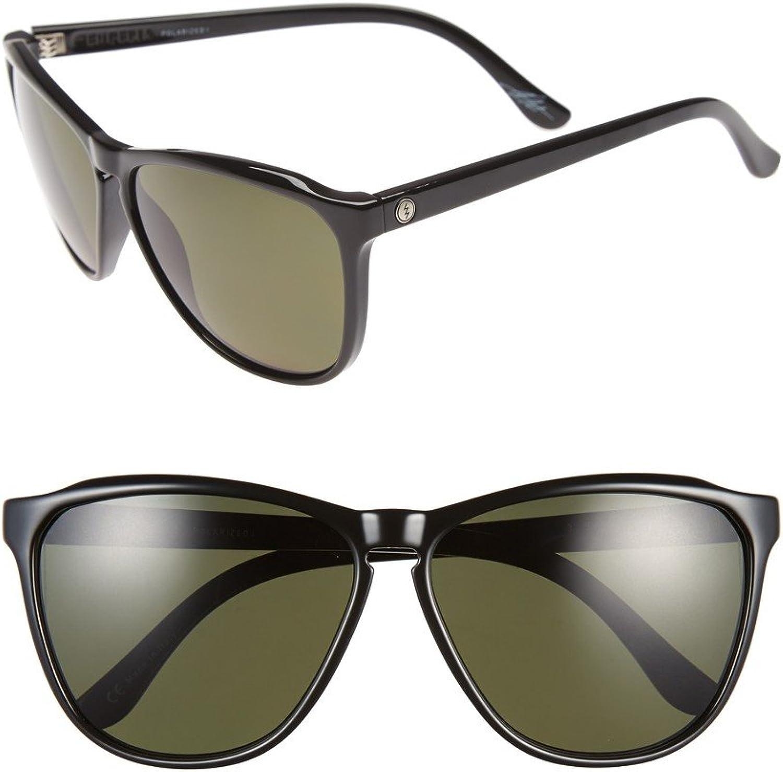 Electric Encelia Women's Sunglasses Gloss Black with Melanin Grey Polarized Lens