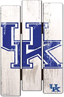 WinCraft NCAA University of Kentucky Wood Fence Sign, Black