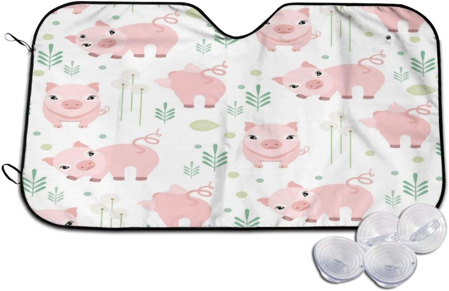 Cute Ranking TOP5 Pig Piggy Animal Patterned Fees free!! Sunshade 3 Wind Car Windshield