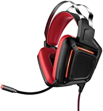 Promate Gaming Headphone, Professional Over-Ear USB Gaming Surround Sound Wired Headset with Haptic Vibration, Mic, Soft E...