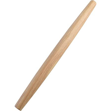 French Rolling Pin (17 Inches) –WoodenRoll Pin for Fondant, Pie Crust, Cookie, Pastry, Dough –Tapered Design & Smooth Construction - Essential Kitchen Utensil