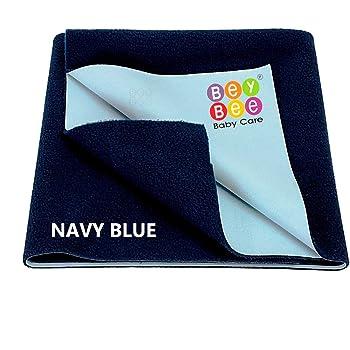 Beybee Quick Dry Waterproof Bed Protector - Medium (Dark Blue)