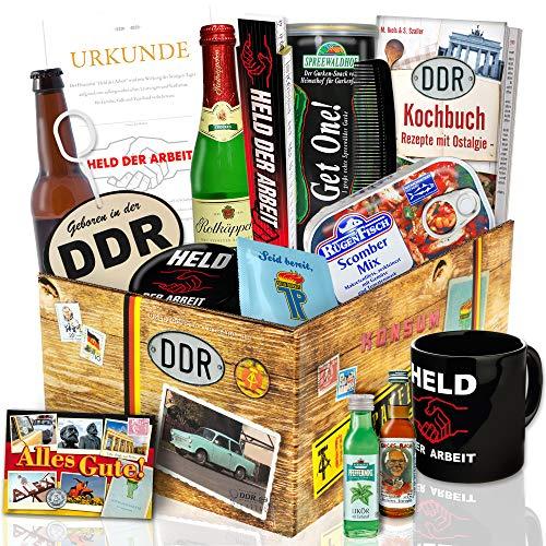 DDR Männer Geschenkbox XXL / Produkte aus der DDR / Geburtstagsgeschenke für Männer