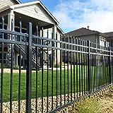 XCEL Fence Black Steel Anti-Rust Fence Panel...