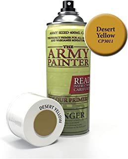 The Army Painter Color Primer, Desert Yellow, 400 ml, 13.5 oz - Acrylic Spray Undercoat for Miniature Painting