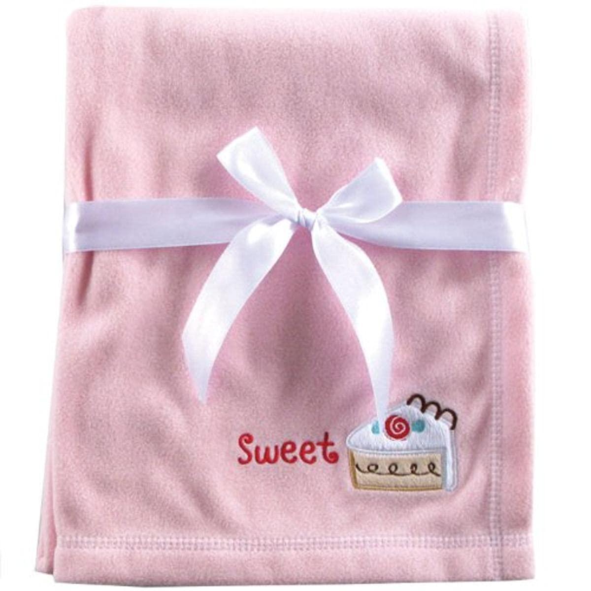 Luvable Friends Fleece Receiving Blanket, Pink