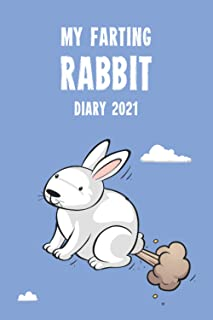 My Farting Rabbit Diary 2021: A funny full year planner gift for a loving rabbit owner