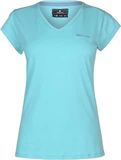 Donnay Womens V Neck Tee Top T-Shirt T Shirt Ladies Short Sleeve