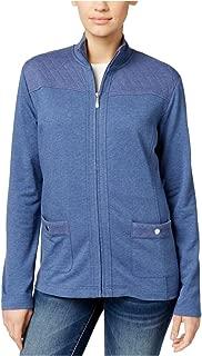 Womens Quilted Zip-Front Fleece Jacket