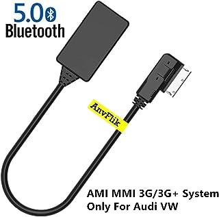 KKmoon Ricevitore BT per Auto interfaccia MMI Compatibile con Telefono Android iOS per Audi A6L Q5 A8 Adattatore Wireless per Cavo Radio Stereo AUX modulo
