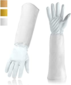 Gardening Gloves Professional Rose Pruning Thorn & Cut Proof with Long Forearm Protection for Women/Men