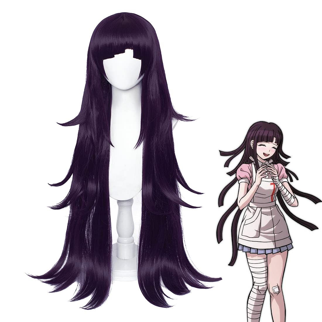 Mikan Tsumiki Cosplay Wig Complete Free Shipping [Alternative dealer] for Dark Long Wi Women Purple