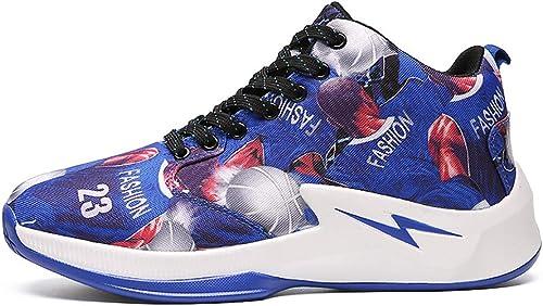 Baskets De Basket-Ball pour Hommes, Absorption De Choc Chaussures De Basketball Chaussures De Course De Sport Poids Léger baskets De Sport,B,41